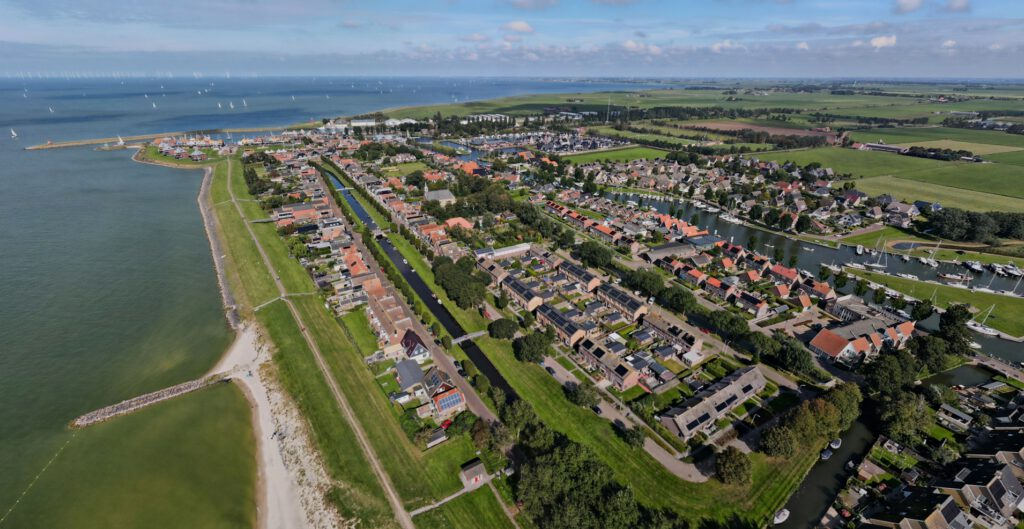 Stavoren - Aerial View with Lock and Beach