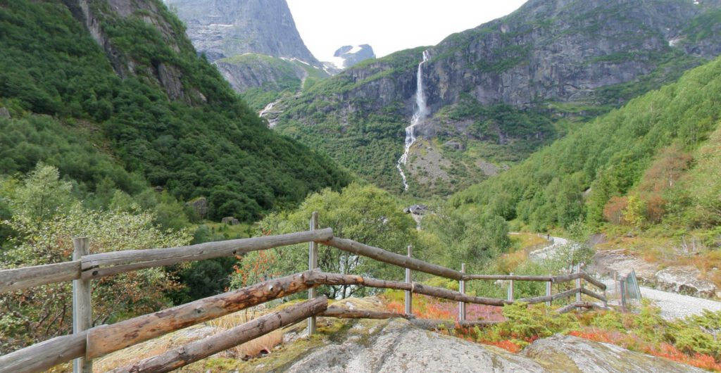 Norway - Olden - On the way from the Briksdalsbre Mountain Lodge to the Briksdalsbreen Glacier